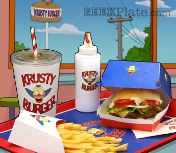 Real life Krusty Burger meal from The Simpsons
